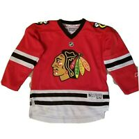NHL Chicago Blackhawks Home Red Jersey Size Youth S/M  Reebok