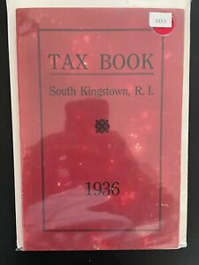 Tax Book South Kingstown, R.I. Vintage 1936 D15-1