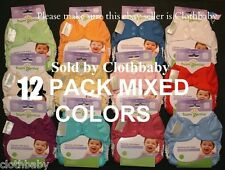 BUMGENIUS ELEMENTAL ORGANIC CLOTH DIAPERS NIP 12 PACK MULTI-COLOR NEW DESIGN