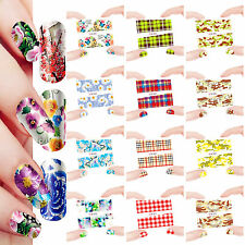 12 Sheets Nail Manicure Tips Water Transfer Decals Sticker Flower Coat 661-672