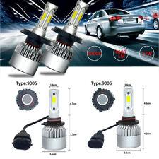 4Pcs 9005+9006 LED Headlight Kit 72W 8000LM Combo High+Low Beam 6500K White Bulb