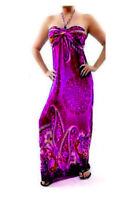 NEW Women Purple Tropical Floral Summer Halter Maxi Long DRESS Sexy S M L