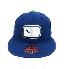 Vancouver Canucks NHL Mitchell Ness Vintage Hockey Blue Fitted Hat Cap 7 3/8
