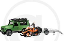 Jouet Bruder Land Rover Véhicule Station Wagon, remorque, motoneige et Conducteur