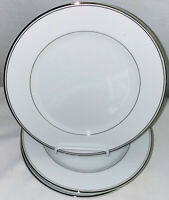 "5 Imperial China *DALTON SINCERITY*WHITE & PLATINUM* 7 3/4"" SALAD PLATES"