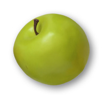 Artificial Fruit Green Apple 80mm Pack x2 Realistic