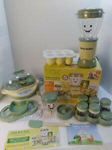 Baby Bullet Food Blender Processor System Baby bullet food warmer/steamer lot