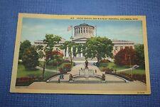 Vintage Postcard State Capitol And Mckinley Memorial, Columbus, Ohio