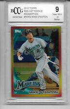 2010 Topps Red Hot Redemption Ref. #RHR4 Giancarlo Stanton Rookie Graded BCCG 9