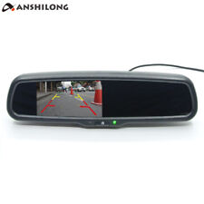 "Universal 4.3"" TFT LCD Interior Replacement Rear View Mirror Car Monitor 2Ch"