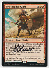 Signed Two-Headed Giant MP Dominaria Artist Simon Dominic MTG Nate's Magic Cards
