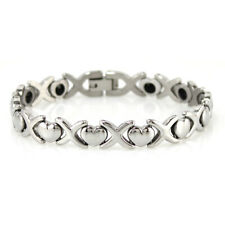 elee2u Womens Power 100% Titanium Germanium Bracelet Balance Band Free Shipping