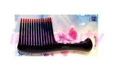 Dimples Rake Teeth Professional Choice Jumbo Wide Tooth Hair Comb Black (H640)