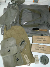 LOT housse SAC cirage brosse MILITAIRE armée SUISSE swiss ARMY BAG SWITZERLAND