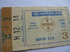 THE WHO__1979__Original__CONCERT TICKET STUB__Madison Square Garden