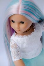 "Custom Doll Wig For 18""  American Girl Doll Heat Safe Journey Girls 10-11""Sz"