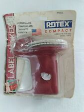 New In Package Vintage Rotex Red Compact Label Maker Uses 38 Tape
