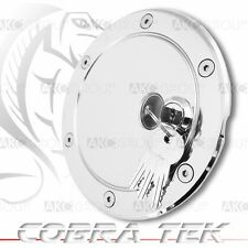 Cobra Tek For 2004-2008 Ford F150 Key Lock Chrome Plated Aluminum Fuel Gas Door
