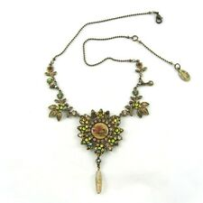 Michal Negrin Victorian Style Rose Cameo Pendant Necklace