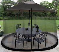 9 Foot Outdoor Umbrella Table Screen Enclosure Outdoors Patio Mosquitoes Bug NEW