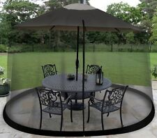 9 Foot Outdoor Umbrella Table Screen  Outdoors without Mosquitoes Bug Enclosure