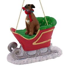 ITALIAN GREYHOUND Dog SLEIGH Ride Christmas ORNAMENT