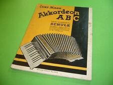 208R06 CURT MAHR Akkordeon ABC, Lernheft, Übungen, Schule für Piano Akkordeon