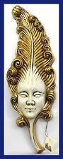 """29"""" 22KT Gold Leaf Craquelure Venetian Carnival Artist Signed Mask"""