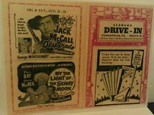 1950s Coraopolis Pa. McKees Rocks Kenmawr Drive-In Movie Theatre Route 19 Poster