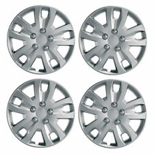 "Gyro 13"" Car Wheel Trims Hub Caps Plastic Covers Set of 4 Silver Universal"