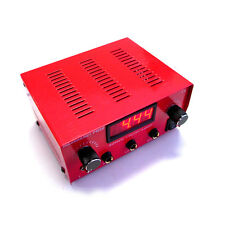 HILDBRANDT Abrams Dual Machine Tattoo Power Supply Unit AC Phono Box Red 2 Amp