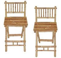 Bamboo Bar Chairs/Stools -Tiki Bar Style-Natural Color- Set of 2