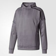 ADIDAS Z.N.E. PULSE JACQUARD HOODIE MEN SIZE LARGE GREY THREE BS4951 NEW COMFORT