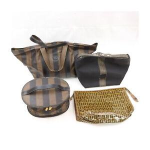 Fendi Nylon PVC Hand/Vanity Bag Clutch 4 pieces set 525405