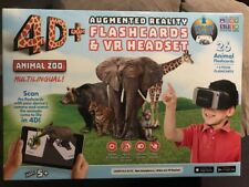 NEW 4D+ Utopia 360° Animal Zoo Augmented Reality Flashcards & VR Headset