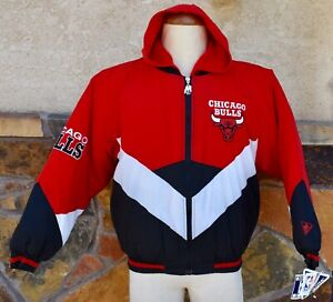 NEW w/TAGS Vintage 90s CHICAGO BULLS NBA MENS S or BOYS 16-18 Puffer Coat Jacket