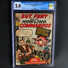 SGT. FURY AND HIS HOWLING COMMANDOS #1 (1963) 💥 CGC 2.0 OW-W 💥 1ST SGT FURY!