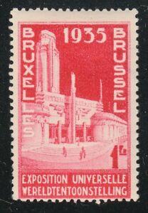 Belgium 1934 MNH Mi 379 Sc 259 Brussels pavilion.Exhibition of 1935 **