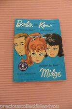 1962 MATTEL DOLL BARBIE KEN MIDGE BOOKLET BROSCHURE