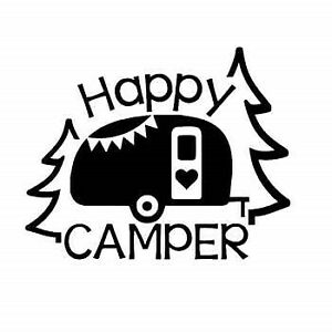 """5"""" Happy Camper Camping Decal Sticker for travel trailer garbage can Outdoors"""