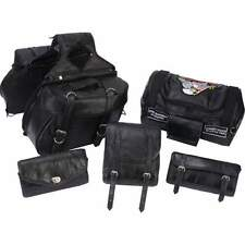 SADDLE BAG & LUGAGE SET FOR HONDA SABRE VTX-1300C 1300c - 6Pc Through Over Style