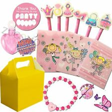Pre Filled Girls Party Bag Yellow Box Ready Made Loot Gifts Bags Wedding Favours