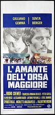 CINEMA-locandina L'AMANTE DELL'ORSA MAGGIORE giuliano gemma, s.berger, V.ORSINI