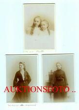 3 KABINETTFOTOS MAX SPALKE WETZLAR / LAHN HOFFOTOGRAF MÄDCHEN VON 1899 1902 1903