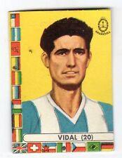 figurina - CALCIATORI CILE LAMPO 1962 - NUMERO 20 ARGENTINA VIDAL