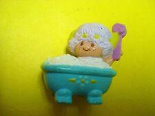 Vtg Strawberry Shortcake 80s Miniature Figures PVC Mini Figs ANGEL CAKE Bath Tub