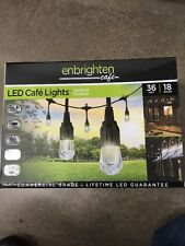 2X 36' String Lights 18 LED Bulbs Hanging Outdoor Weatherproof Cafe Deck Lamps