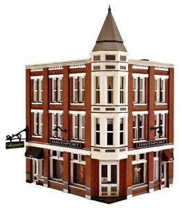 """N Scale - Davenport Department Store - """"Pre-fab Building KIT"""" - WOO-PF5214 A"""