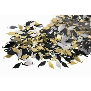 Forum Novelties Graduation Cap Gold, Silver, & Black Confetti