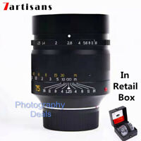 7artisans 75mm F1.25 Manual Focus Portrait Lens for Leica M mount Camera M2 M3
